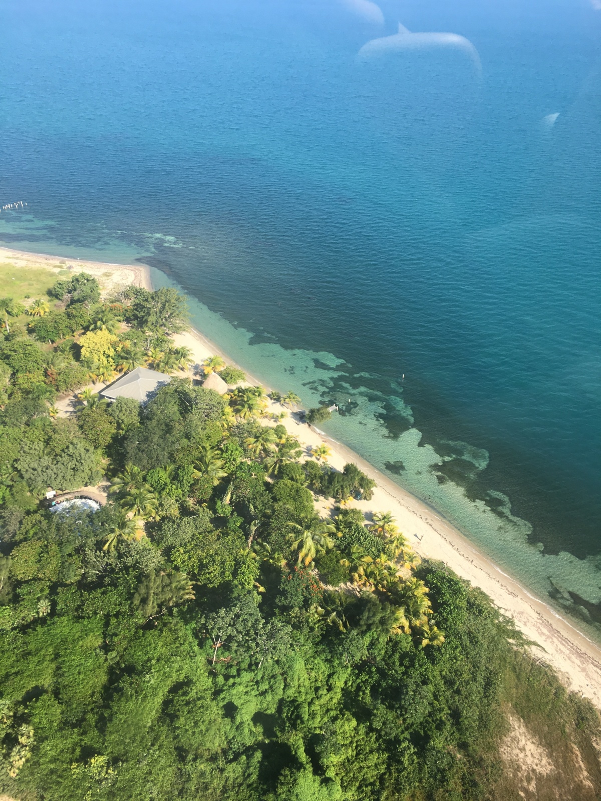 Helicopter ride in Belize. See our travel guide to 5 Days in Placencia, Belize at Turtle Inn