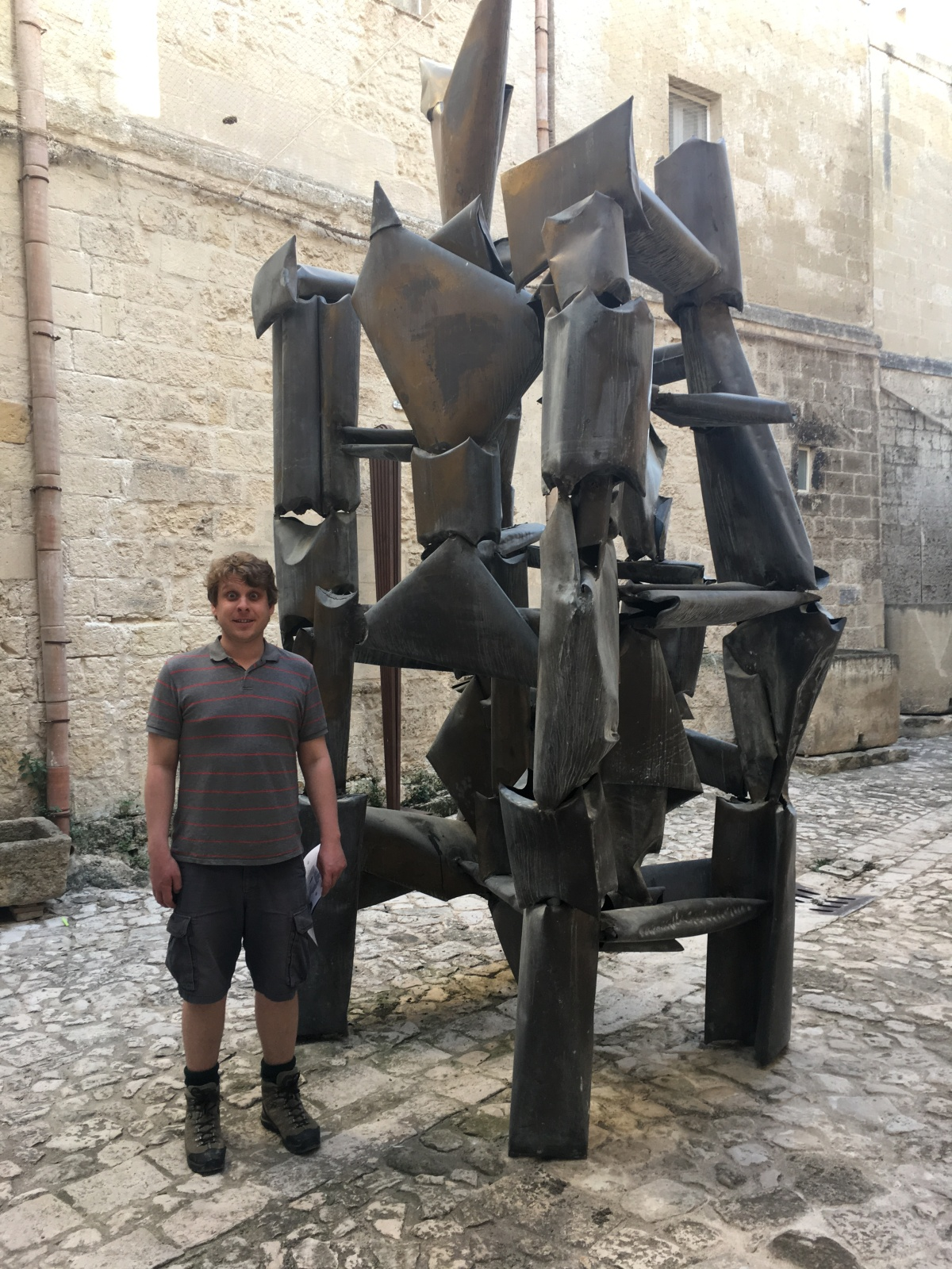 MUSMA, Matera's museum of modern sculpture set in a centuries-old cave. We visited on our babymoon.