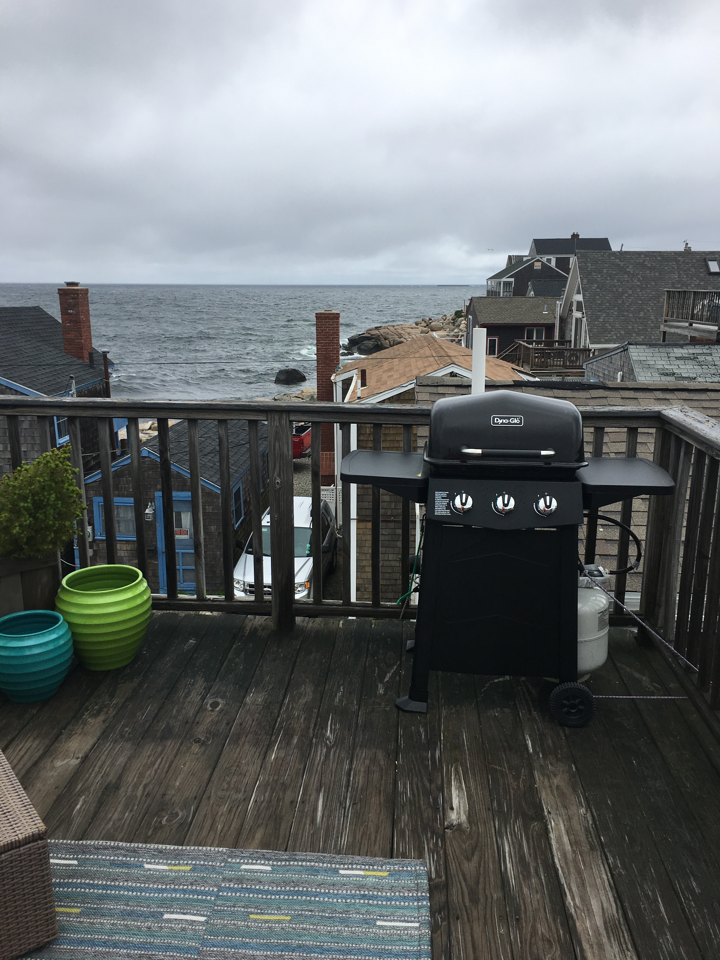 Rockport, MA, with a baby